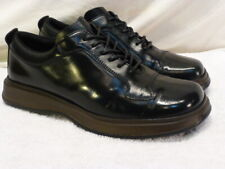 Prada Black Mens Sneakers Leather Vibram Lace Up Athletic Shoes 8.5M $900