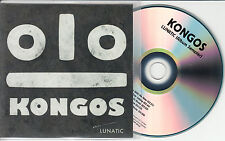 KONGOS Lunatic Album Sampler 2014 UK 5-trk promo test CD