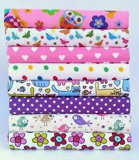 BRIGHT POLY COTTON FABRIC BUNDLE LARGE OFFCUTS REMNANTS SQUARES SCRAPS MATERIAL
