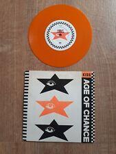 "Age Of Chance  Kiss /Crash Conscious - 7"" Orange Vinyl Single Record"