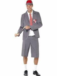 Mens Rydell Prep 50s Costume 1950s Grease Fancy Dress School Jock Jumper Jocker