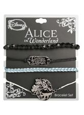 Disney Alice In Wonderland Arm Party Curiouser Bracelet Set New With Tags!