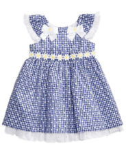 Baby Girls Dress Bonnie Baby Eyelet Daisy Gingham Print Infant Size 18M NWT