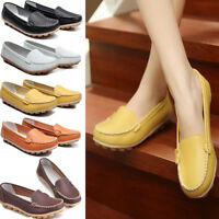 Womens OL Casual Moccasin Nurse Work Peas Shoes Loafers Soft Flats Non-slip Pump