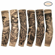 6Pcs Tattoos Cooling Arm Sleeves Cover UV Sun Protection Basketball Outdoor Bike