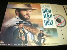 """THE GOOD the BAD the UGLY<>CLINT EASTWOOD<>2X12""""  Laserdiscs<>MGM 101739"""