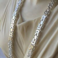MENS King Bali Byzantine Chain Necklaces 22 Inch 5mm 72GR 925 Sterling Silver