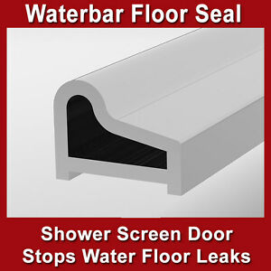 4x SHOWER SCREEN DOOR WATER BAR FLOOR ANTIRUST STRIP ALUMINIUM CHROME 10mm(h)