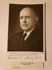 1957 SUPREME COURT JUSTICE STANLEY REED SIGNED PHOTO - EX REAGAN ATTY