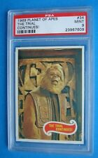 Topps 1969 Planet of the Apes Graded Psa 9 Card # 34 Movie Green Back Low Pop
