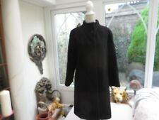 Quirky but classic Adolfo Dominguez  lined coat stunning black wool/alpaca 10/38