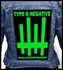 TYPE O NEGATIVE - Non Prophet Organisation --- Huge Jacket Back Patch Backpatch