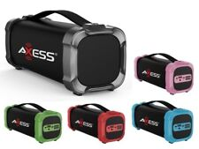 "AXESS SPBT1073 2.5"" Portable/Rechargeable Bluetooth Speaker +USB/SD/AUX/FM"