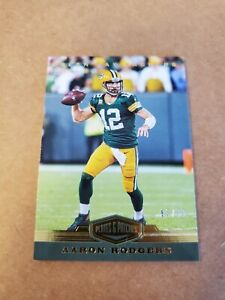 2019 Plates & Patches Gold #d /99 Aaron Rodgers SP #37 Green Bay Packers