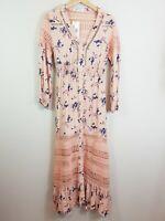 PINK DIAMOND | Womens Maxi vintage Floral Dress NEW  [ Size S or AU 10