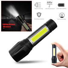 Mini T6 COB LED Flashlight USB Rechargeable Telescopic Zoomable Torch Light Lamp