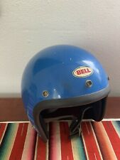 VINTAGE BELL RT 3/4 OPEN FACE MOTORCYCLE HELMET BLUE R-T SIZE 7 1/2