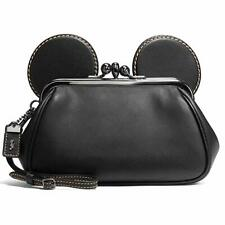 New_Coach X_Disney Mickey Mouse_Kisslock Wristlet_#65794_Retired_Rare