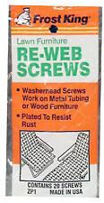 New listing Screws for Lawn Chair Webbing, 20-Pk.