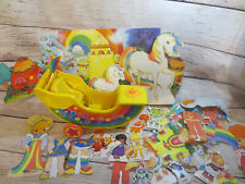 Rainbow Brite Sailmobile in Original Box with Paper Dolls and Backdrop Set