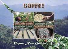 Papua Nuova Guinea 2010 Gomma integra, non linguellato Caffè 4v M/S ALBERI FAGIOLI PIANTE FRANCOBOLLI