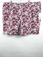 Vineyard Vines for Target Men's Hibiscus Whale Swim Trunks Red/Navy in XL NWT