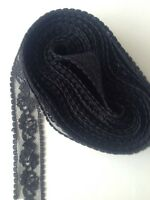 5 X Mtrs Of Black Lace Look Lace App 7/8 Ths Of An Inch Wide