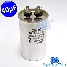 3S CONDENSATORE di MARCIA per MOTORE COMPRESSORE FRIGO 40 µF mF 440 Vac 50/60 Hz