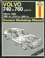 VOLVO 740 & 760 ( 2.0 2.3 2.5 PETROL ) SALOON ESTATE 1982 - 1989 WORKSHOP MANUAL