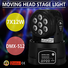 7x10W RGBW 4in1 LED Moving Head Light DMX DJ Club Disco Stage Party Lighting Top
