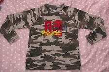 t shirt manches longues camouflage okaidi 8ans