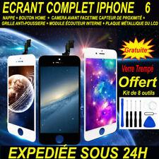 VITRE TACTILE + ECRAN LCD COMPLET POUR IPHONE  6 NOIR / BLANC BLOC ECRAN IPHONE