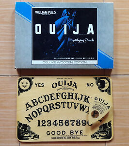 VINTAGE ORIGINAL William Fuld 1967 OUIJA TALKING BOARD Deluxe Wooden Edition