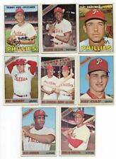 "PHILA PHILLIES 1966 1967 TOPPS BASEBALL 8 CARD LOT W/ ALEX JOHNSON ""NO TRADE"""