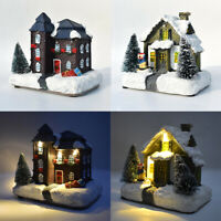 Christmas Village Scene Ornament LED Decoration Traditional Novelty Xmas US