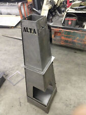 """ALTA TORCH Portable Fire Pit Ring 48"""" height 4 Panels Steel"""