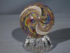 "Marbles: Hand Made Art Glass Alloway Dichroic Cane ""Supernova.2""#115    2.38inch"