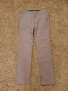 Bonobos Golf Mens Beige Tan Slim Fit Straight Dress Golf Pants Size 34x36 Tall