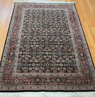 4' x 6'  Fine Indo-Tabrizz Fish Design Heratii Hand Knotted Wool Oriental Rug