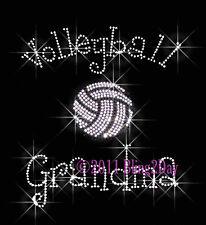 Volleyball Grandma - C - Iron on Rhinestone Transfer Hot Fix Bling Sports School