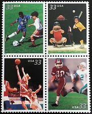 2000 33c Youth Team Sports, Block of 4 Scott 3399-3402 Mint F/VF NH