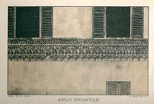 1894 IVREA Canavese Torino Asilo Infantile Tomatis Litografia