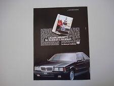 advertising Pubblicità 1987 MASERATI 228