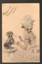 CHIEN dressé MESSAGER-FACTEUR / Viennoise en 1901