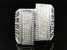 Mens White Gold Finish Custom Pinky Fashion Diamond Ring 1.0 Ct