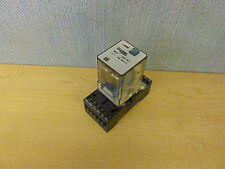 Bircher RF-3 Relay 10A 250VAC Coil 24VDC with Bircher BSF-11 base (14043)