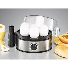 Rommelsbacher he 400 Stainless Steel Black Egg Cooker Adjustable Hardness Degree 400