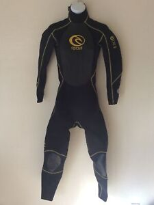 Rip Curl Girl Patrol 3/2 Chest Zip Full Wetsuit Size 8 Great Cond Free Shipping!