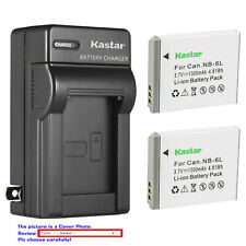 Kastar Battery Wall Charger for Canon NB-6L NB-6LH CB-2LY & Canon PowerShot S95