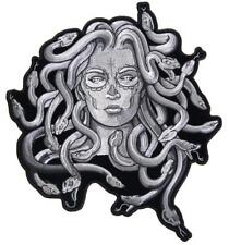 JUMBO EMBROIDERED MEDUSA SNAKES IN HAIR WOMEN  PATCH JBP103 10 IN NEW jacket